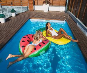 girl and pool image