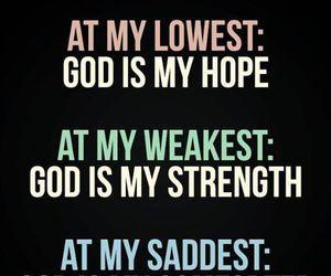 god, hope, and faith image