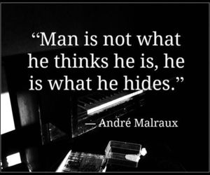 quote, man, and hide image