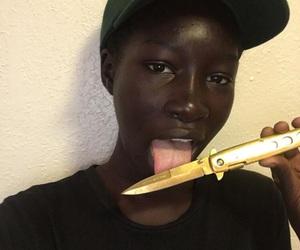 beautiful, cool, and dark skin image