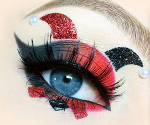 red, black, and eyes image