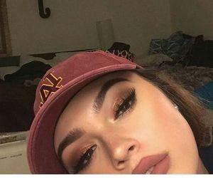 girl, makeup, and cap image