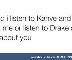 Drake, kanye, and music image