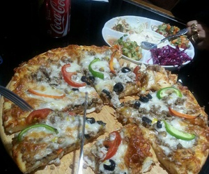aesthetic, food, and food pizza image