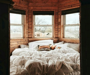 bedroom, bed, and autumn image