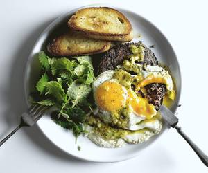 sausage, french food, and fried egg image