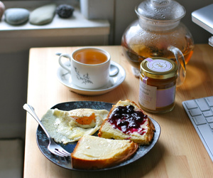 food, breakfast, and tea image