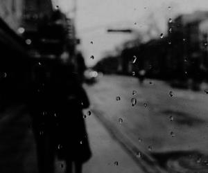 rain, street, and vintage image