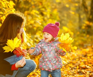 autumn and child image