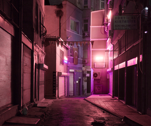 pink, night, and aesthetic image