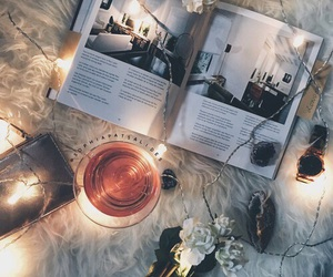 book, cozy, and light image