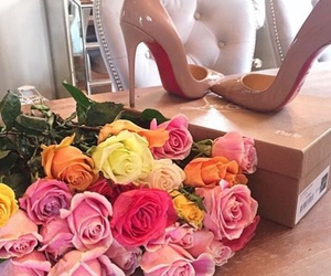colours, pink, and shoes image