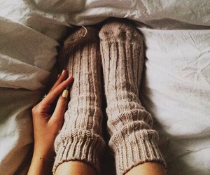 socks, winter, and autumn image