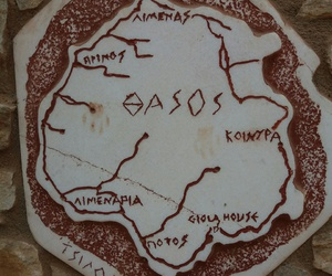 Greece, map, and thassos image
