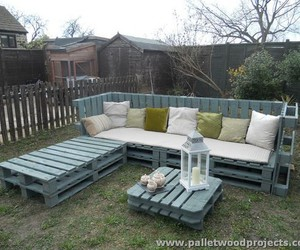 pallet furniture, pallet patio furniture, and pallet outdoor furniture image