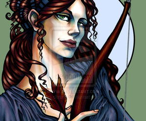 artemis, deusa grega, and caçadora image