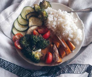 food, dinner, and healthy image