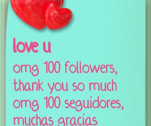 100, love, and followers image