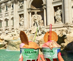gelato, icecream, and rome image