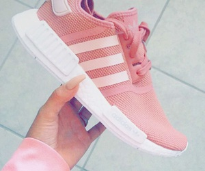 adidas, nails, and pink image
