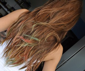 color, colored hair, and colorful hair image