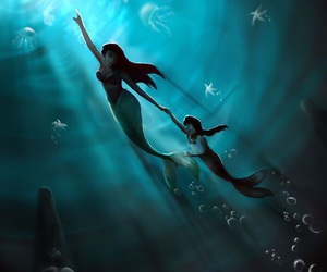 ariel, disney, and little mermaid image