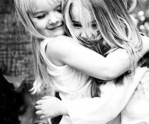 friends, child, and black and white image