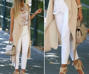 outfit, beige, and clothes image