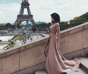 dress, paris, and girl image