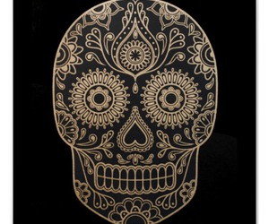 day of the dead, skull, and sugar skull image