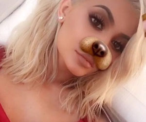 blonde hair, girl, and kylie image
