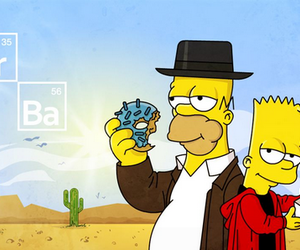 breaking bad, bart, and homer image
