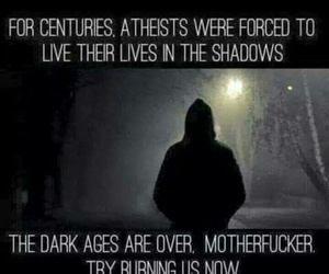 atheism, burn, and quote image