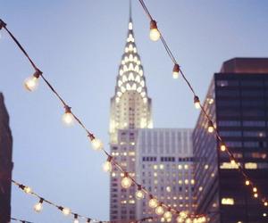 light, city, and new york image