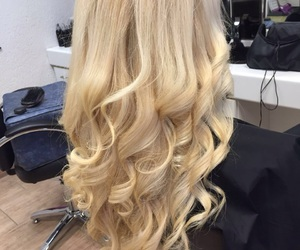 curls, beautiful, and blond image