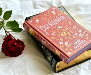 book, Persuasion, and rose image