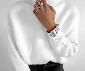 black and white, clothing, and fashion image