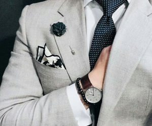 dots, gentleman, and grey image