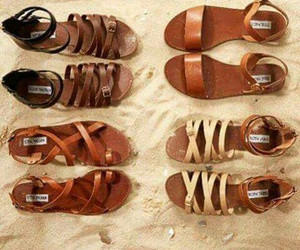 brown, fashion, and sandals image