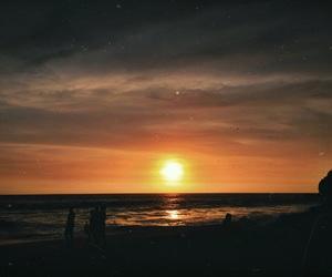 art, beach, and sunset image