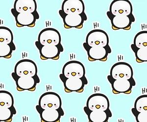 hi, penguin, and pattern image