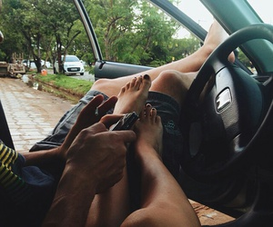 cars, love, and couple image