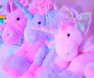 unicorn, pink, and kawaii image