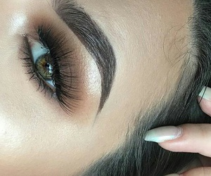 beauty, makeup, and eyebrows image