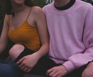 couple, grunge, and pink image