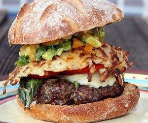 food, hamburger, and burger image