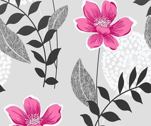 black, flowers, and pink! image