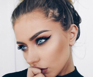 girl, makeup, and pretty image