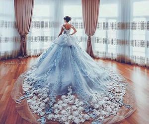 dress, blue, and wedding image