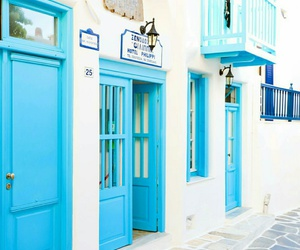 blue, tumblr, and Greece image